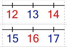 Számegyenes 0-20-ig. Math Class, Maths, Mathematics, Free Printables, Math Equations, Album, Education, School, Blog