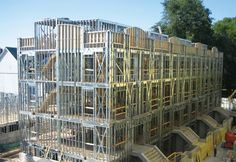 metal stud construction | Steel framework represents a hi-tech, high-efficiency construction ...