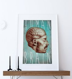 Medical Anatomy Illustration Human Brain Print Vintage Illustrated Antique Human Giclee Cotton Canvas or Paper Canvas Wall Decor Art #medicalillustraion #anatomy #medical #wallart #homedecor #human #print #anatomyprint #brain #humanbrain #medical #brainanatomy #human #vintage #print #vintageprint #wallart #etsy #giclee