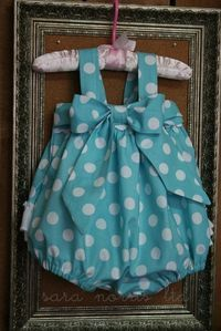 Items similar to Custom made Sweet Baby Jane Sunsuit Romper by Sara Norris Ltd on Etsy Sewing Baby Clothes, Baby Clothes Patterns, Sewing Patterns For Kids, Baby Sewing, Baby Patterns, Sewing Ideas, Dress Sewing, Smock Dress, Barbie Clothes