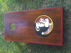 Florida State Seminoles cornhole boards.   Contact Jason@RichmondCustomCornhole.com for your custom set.