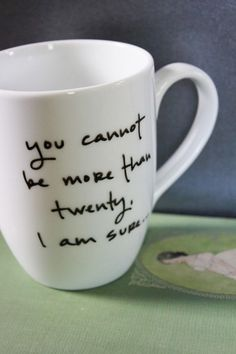 30th Birthday Mug, Idea have mugs out for guests to write personal messages for your new mug set at home-Rachel