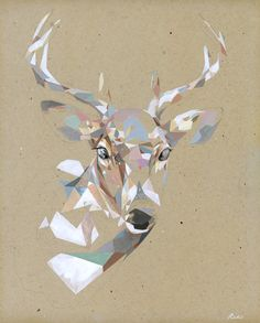 Artist Rico Blanco combines his two passions—painting and illustration—into… Deer Illustration, Illustrations, Geometric Deer, Geometric Shapes, Geometric Flower, Deer Print, Giclee Print, Oh Deer, Stag Deer