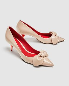 ZARA - WOMAN - MEDIUM HEEL COURT SHOES WITH BOW