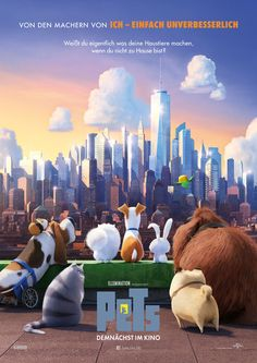 """The Secret Life of Pets"" cast: Kevin Hart Louis C. Eric Stonestreet Lake Bell Ellie Kemper Albert Brooks Bobby Moynihan Jenny Slate Hannibal Buress Steve Coogan Dana Carvey Brian T. Streaming Movies, Hd Movies, Movies To Watch, Movies Online, Movies And Tv Shows, Hd Streaming, 2016 Movies, Cartoon Movies, Disney Films"