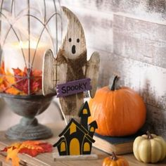 Spooky Ghost Wooden Statue-this guy is cute