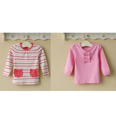 Mom and Bab Girls Longsleevess 2 in 1 - Pink Stripes - sadinashop.com  T-shirt atau kaos lengan panjang untuk bayi dan anak perempuan.