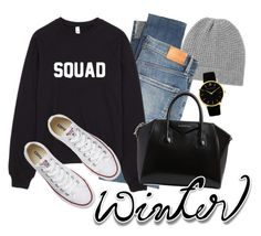 """""""S W"""" by taissasilva ❤ liked on Polyvore featuring Madeleine Thompson, Citizens of Humanity, Converse and Givenchy"""