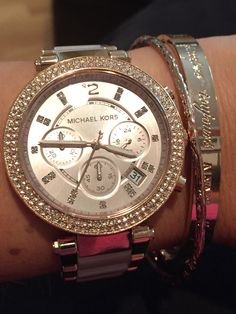 Michael Kors Parker in Blush and Rose Gold. Love!