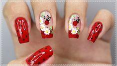UNHAS DECORADAS FÁCIL E SIMPLES - Nail Art Easy | Gersoni Ribeiro Manicures, Nails, Easy, Pretty Pedicures, Nice Nails, Nailed It, Art Nails, Designed Nails, Adhesive