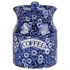 Calico Storage Coffee Jar ~ Burleigh