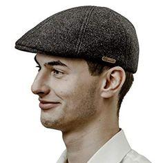 Sterkowski Aberdeen Harris Tweed Flat Cap 100/% Laine Gatsby Classique Ivy League