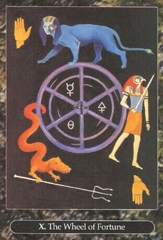 X. The Wheel of Fortune - Universal Tarot by Maxwell Miller