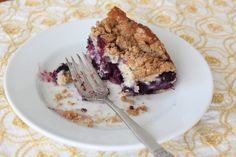 Blueberry Chobani Buckle - A Guest Post by Robin from Knead to Cook - Cupcakes & Kale Chips