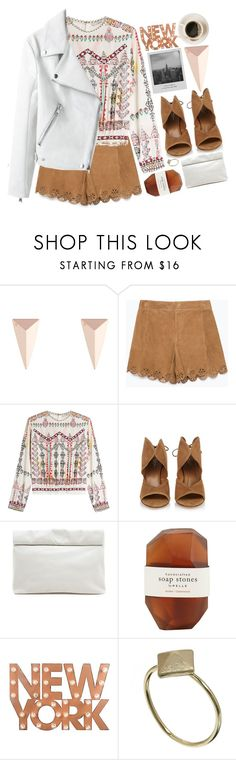 If I can make it there I can make it anywhere. by christinethedaae on Polyvore featuring Etro, Zara, Aquazzura, Marie Turnor, Alexis Bittar, Orelia, Pelle, Dot & Bo and Meggie