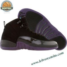 153265-051 Air Jordan 12 Retro black grand purple aquamarine