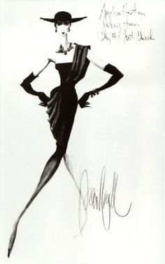 There is one interesting thing about life of fashion designer Christian Dior who was surviving by selling his fashion sketches to haute couture houses. Today, designers thankfully dont live like that! Vintage Fashion Sketches, Fashion Illustration Sketches, Illustration Mode, Fashion Design Sketches, Fashion Drawings, Moda Fashion, Trendy Fashion, Fashion Art, Dior Fashion