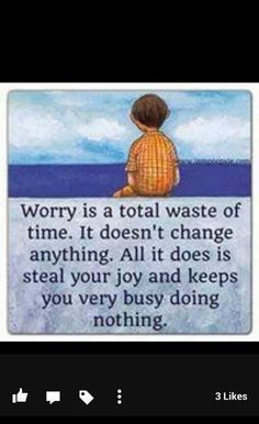 Trying to worry less...