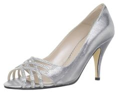 Caparros Women's Charmaine Open-Toe M US. The style name / style number is Charmaine /. Material: Satin Upper and Leather Outsole. Width: B. Silver Wedge Sandals, Silver Wedges, Peep Toes, Vintage Shoes, Bridal Shoes, On Shoes, Designer Shoes, Stiletto Heels, High Heels