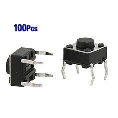 ¡ Promoción! Amico 100 Unids 6x6x4.5mm Panel PCB Momentáneo Tact Interruptor de Botón 4 Pin DIP