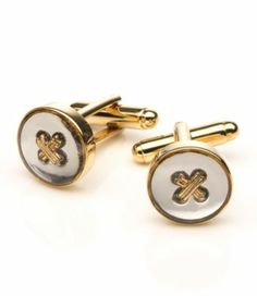 Silver and Gold Round Cufflinks