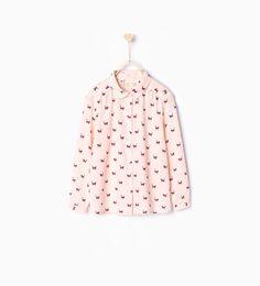Camisa estampado de Zara gatitos 12,95