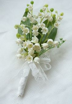 Lily of the valley button hole