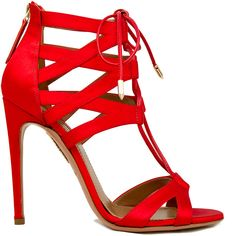 Aquazzura Famous Red 'Beverly' Sandal Fall 2013 #Shoes #High #Heels