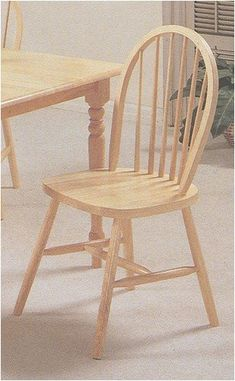 Set of 4 Natural Finish Arrow Back Farm House Wood Dining Chair/Chairs