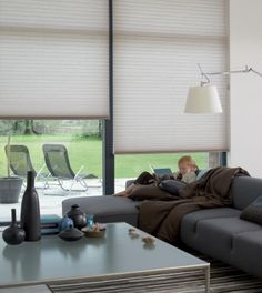 Duette Shades with blockout fabric have a metallised lining to provide you with complete privacy, room darkening and extra insulation. They're great for cold climates and bedrooms, and the minimal light gaps when fitted makes them perfect for home media rooms. Luxaflex Window Fashions New Zealand