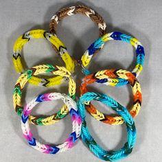 Rainbow Loom Bracelets Easy, Rainbow Loom Fishtail, Fishtail Bracelet, Bracelet Sizes, Friendship Bracelets, Diy Jewelry, Pokemon, Inspired, Accessories