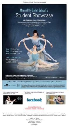 Subject line:  MCB School Student Showcase -- See the dance stars of tomorrow!