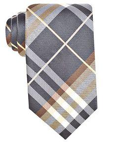 Geoffrey Beene Tie, Pierre Plaid - Mens Ties - Macy's