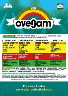 Overjam 2016 Full Line Up