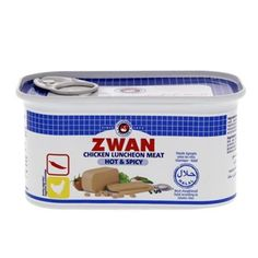 Buy online #Canned #Meat Zwan #Chicken Luncheon Meat Hot And Spicy 200 Gm  @ luluwebstore.com for AED7.20