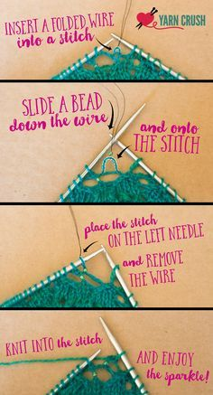 Add some sparkle to your stiches. Adding beads to your knitting is easier than you think!