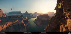 ArtStation - The Climb - USA Morning - Vista work, Finn Meinert Matthiesen