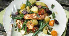 Warm green bean, halloumi and potato salad: recipe from Crumbs Magazine