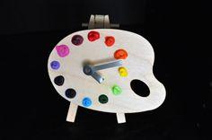 Mini Palette Clock  Unique Art Studio Decor, $14.95