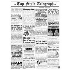 TopStyle Newspaper Waxed Food Paper - 2 sizes (per pack)