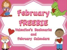 This February Freebie contains Valentine's Day bookmarks that can be given to students as their holiday gift from the teacher and blank February calendars that can be used to reinforce calendar skills or be used as a reading record. *****************************************************************************Related Product This product is a part of a larger Valentine's Activities BUNDLE: Multiple Subject Areas.