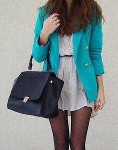 love the blue jacket!
