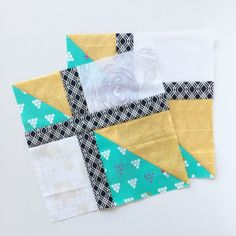 Checker quilt block for quilting bee