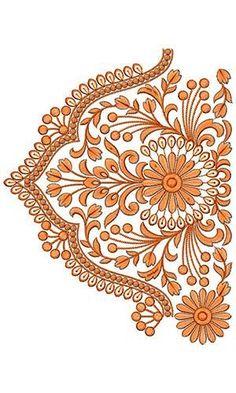Border Embroidery Design 19550 ,