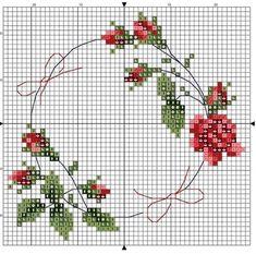 101 ÇEŞİT GÜL ŞABLONU (1) - GELİN İŞLERİ Cross Stitch Rose, Needlepoint Canvases, Flower Frame, Needlework, Instagram, Shabi Chic, Africa, Roses, Cross Stitch