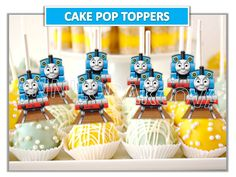 Thomas the Train Cake Pop Toppers/ Thomas Train Cupcake Toppers/ Printables/ Instant Download/ You Print 60% OFF by ANNILORACK on Etsy