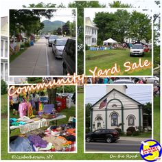 Community yard sales are great places to find bargains on just about everything including old books, postcards and other ephemera. This one happens each Summer in Elizabethtown, New York.  On the Road with snowbirdrvtrails.com