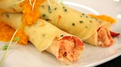 Lobster Crepe with Sweet Carrot Puree