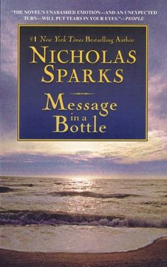 Message in a Bottle by Nicholas Sparks. Great movie too starring Kevin Costner & Robin Wright. Hard to believe this was the first book to become a movie. Luckily, 'A Walk to Remember' & 'The Notebook' followed :D