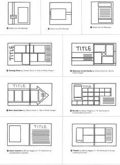 Sketchbook Layout, Scrapbook Layout Sketches, Sketchbook Pages, Scrapbook Designs, Bullet Journal Quotes, Bullet Journal Writing, Bullet Journal Layout, Scrapbook Journal, Diy Scrapbook